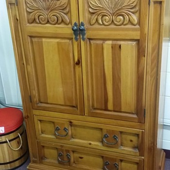 I just purchased this Beauty at a thrift store..bed armoire and nightstand..searched the whole net only 1 other piece found