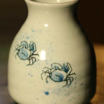 Japanese Creamer? Midcentury? Little blue sand crabs!