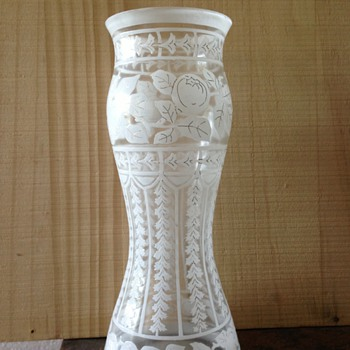 Bohemian vase - Cameo enamel  - Art Glass