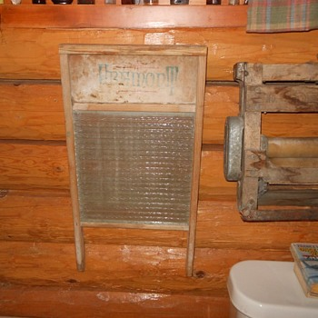 Howard Glass Washboard Circa 1940s