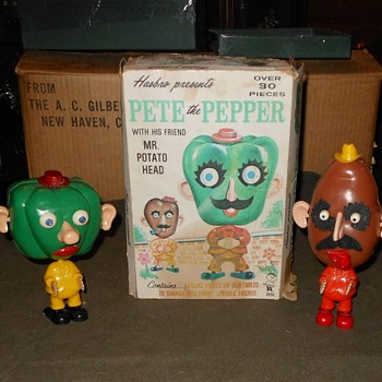 Mr Potato Head and Pete the Pepper Set 1964 Hasbro