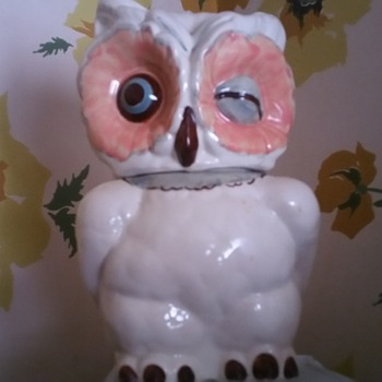 Shawnee winking owl 1950 cookie jar and friend