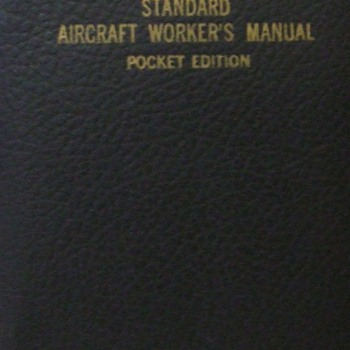 1941 Standard Aircraft Worker&#039;s Manual, Pocket Edition - Military and Wartime