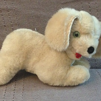 Shanghai Dolls Factory Dog, pure wool dog, 1960s,