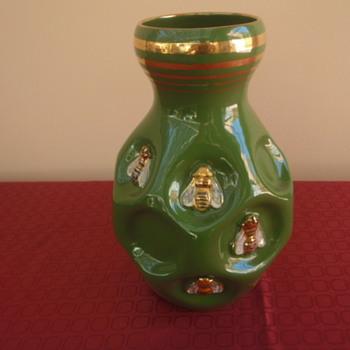 Italian 1960 Bee Vase - Art Pottery