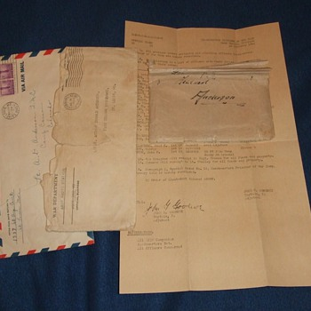 WW2 German POW letter of thanks to US Officer - Military and Wartime