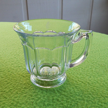 Clear punch bowl cups - 11 - possibly Heisey?