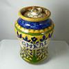Pair of Carlo Manzoni (ex Della Robbia Pottery) Jars - Tapioca and Oatmeal