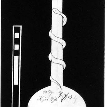 LOETZ RUSTICANA MIT SCHLANGE II-713 - Art Glass