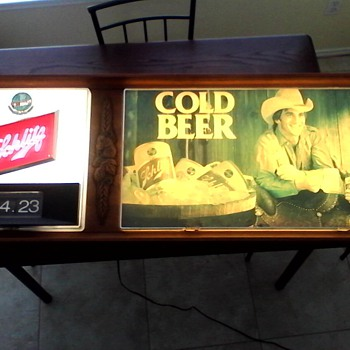 Schlitz light up beer sign/clock - Breweriana