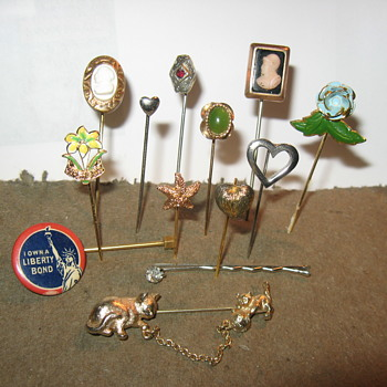 Hat And Tie Pins - Costume Jewelry
