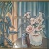 """antique art deco watercolor painting signed """"kupur"""""""