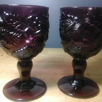 Purple goblets - Glassware