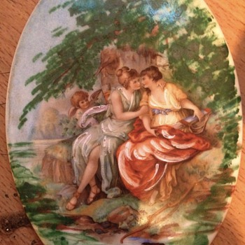 Romantic scene by limoges