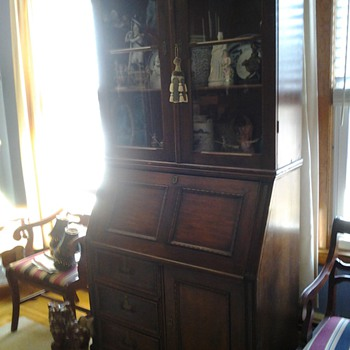 19th C Victorian Three Part Secretary