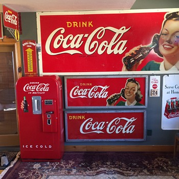 A small sample of my Coke collection, glad I found this stuff 30 years ago when it was a lot easier to come by - Coca-Cola