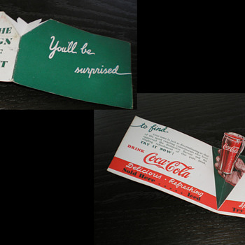 1930s Coca-Cola Sales Pieces Introducing Coca-Cola in London England