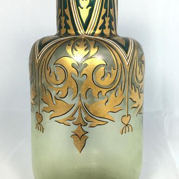 "Fritz Heckert ""Cypern"" Vase - PN 525/7.  Circa 1900 - Art Glass"