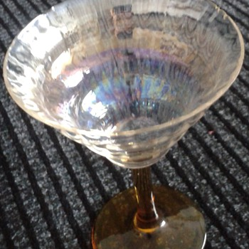 Little Iridescent Drinking Glass 1920s/30s ? - Glassware