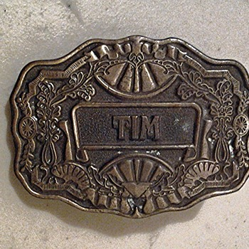 Oden Inc Personalized Western Belt Buckle