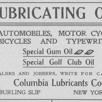 1902 Columbia Oils Advertisement
