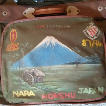 Canvis suit case from Japan in the 1940's - Military and Wartime