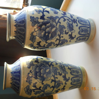 My first Chinese vases - Blue and white