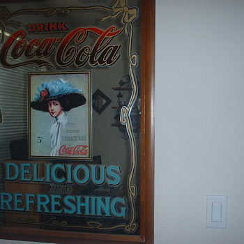 Vintage Coca~Cola Mirror - Coca-Cola