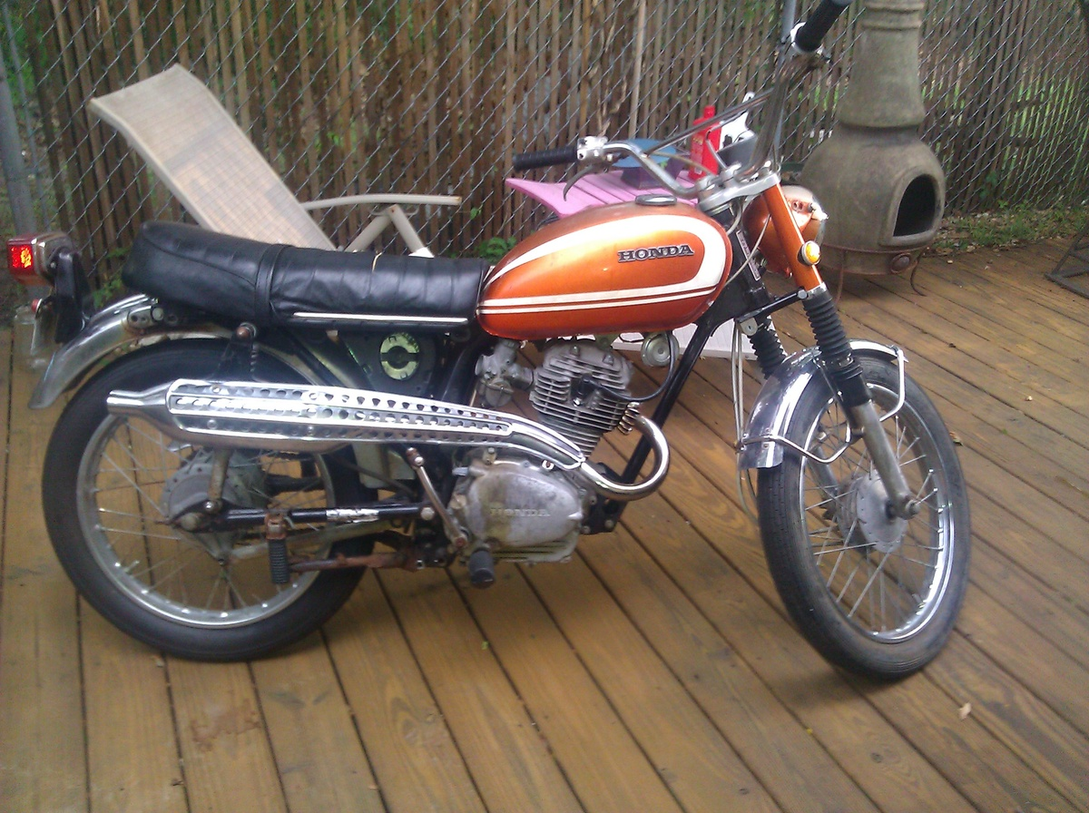 27383 1971 Honda Cl100 on Victorian Baby Furniture