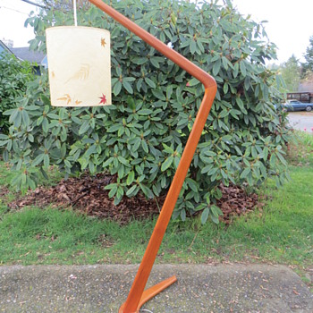 Danish Modern Teak Floor Lamp - One Of A Kind!