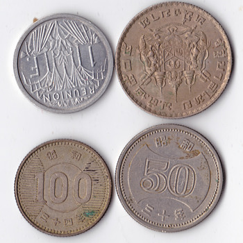 Differet set of 4  - World Coins