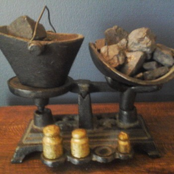 Miniature Coal Bucket And Weights