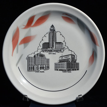 Los Angeles Civic Center bread plate - Wallace - China and Dinnerware