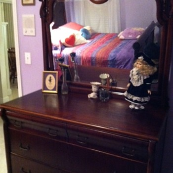 Victorian Bed/Dresser - Furniture