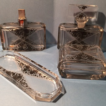 4 piece vintage Czech set - Bottles