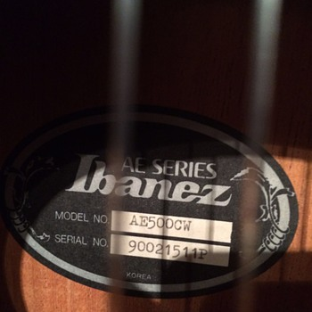 Vintage Ibanez AE series - Guitars