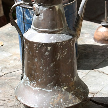 Very large turkish coffee pot - well used...