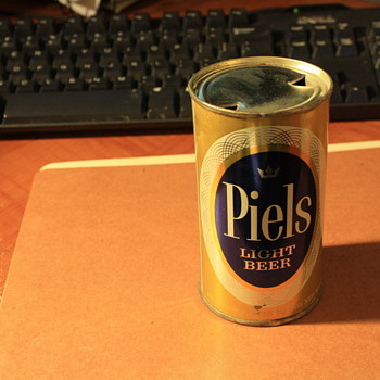 I found this  Piels Light beer can in an attic crawl space