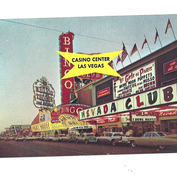 CASINO CENTER POSTCARD 50 YEARS AGO