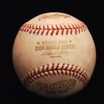Game Used 2004 World Series Baseball
