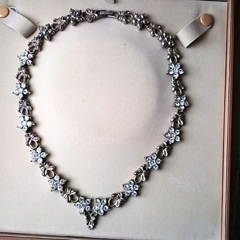 Costume Faux Paste Choker Necklace Flea Market Find 1 Euro ($1.06) - Costume Jewelry