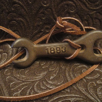 """Dille & McGuire """"1893"""" Cast Iron Wrench made into necklace - Tools and Hardware"""