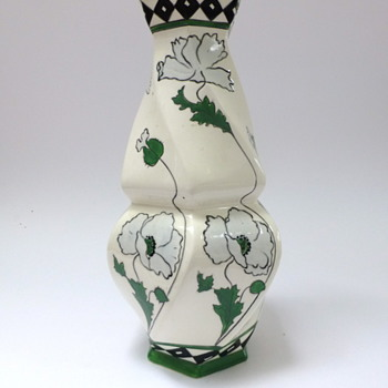 Big Czechoslovakia baroque-jugendstil vase