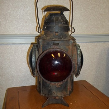 Railroad switch lamp - Railroadiana