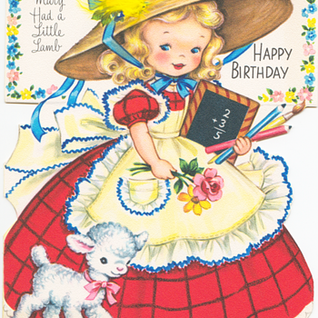 Mary Had a Little Lamb | Fairfield Birthday Story Card - Cards