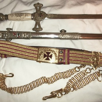 Circa 1925-30 Lilley Co. Knights Templar Sword Ceremonial?
