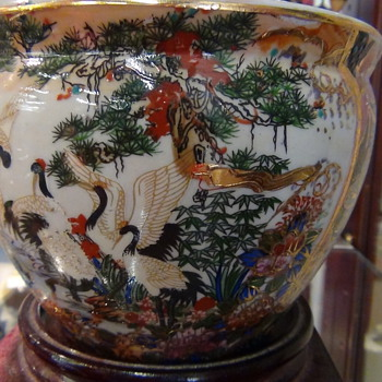 Royal Satsuma Oriental Pot With 22 Carrot Gold Leaf From The 1800&#039;s