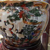 Royal Satsuma Oriental Pot With 22 Carrot Gold Leaf From The 1800's