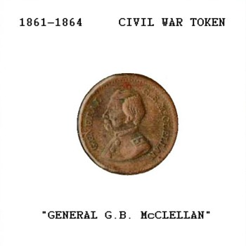 Civil War Token - Gen. McClellan - US Coins