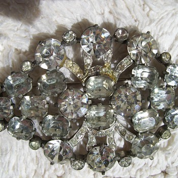 I have never seen an Eisenberg Original (1935-1942) this large. - Costume Jewelry